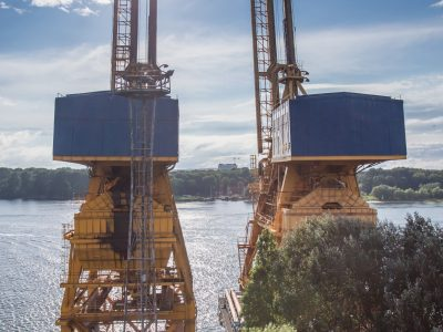 1989Żurawie w Gdańsku <br><i> Cranes in Gdansk</i>