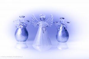 fotografia studyjna zdjęcie foto figurki szkło szklane świąteczne ozdoby choinkowe