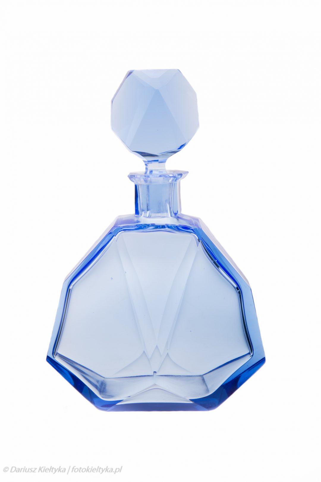 fotografia studyjna zdjęcie foto karafka art deco szkło kryształ antyczna naczynia